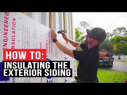How to: Exterior Insulation & Cedar Siding