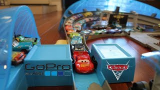 Disney Cars 3 Ultimate Florida 500 Speedway POV with Hot Wheels Zoom In GoPro Car