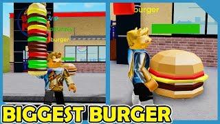 Eating the Biggest Burger in Roblox Hamburger City Simulator