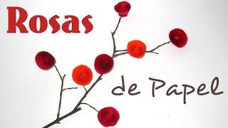 Como fazer Rosa de Papel – DIY Paper Roses by Carla Fernanda