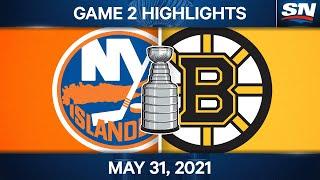 NHL Game Highlights   Islanders vs. Bruins, Game 2 - May 31, 2021