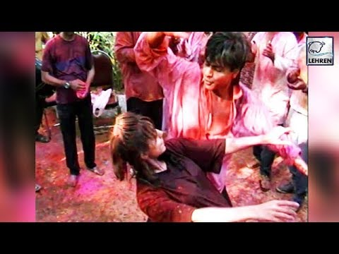 Throwback Video: Shah Rukh And Gauri Khan's Crazy Dance At A HOLI Party