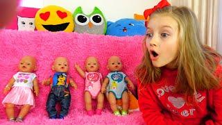 Polina viste muñecas en hermosos vestidos