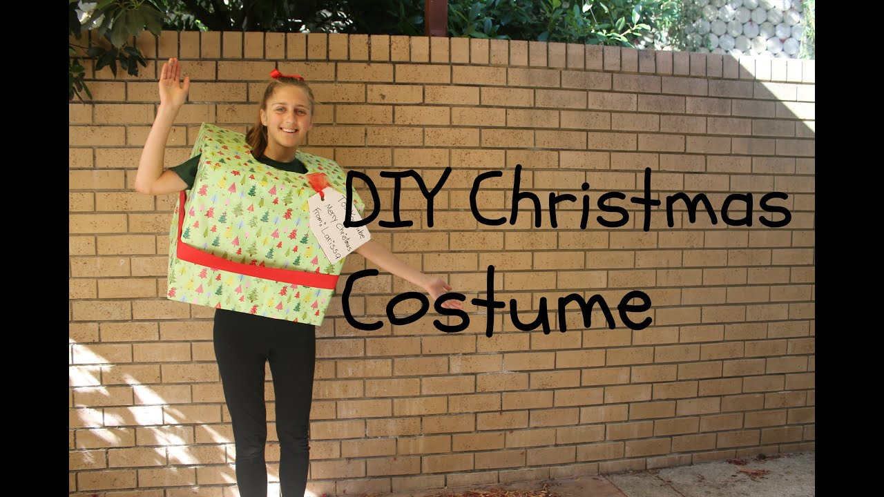 diy christmas costume wrapped present youtube - Diy Christmas Costumes