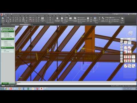 3D Portal Steel Framed Structure in Advance Steel 2017
