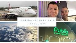 Walt Disney World & Florida Vlog - January 2018 - Day 1 - Travel Day - Virgin Atlantic to Orlando