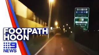 Hoon driver films himself speeding along bike bath