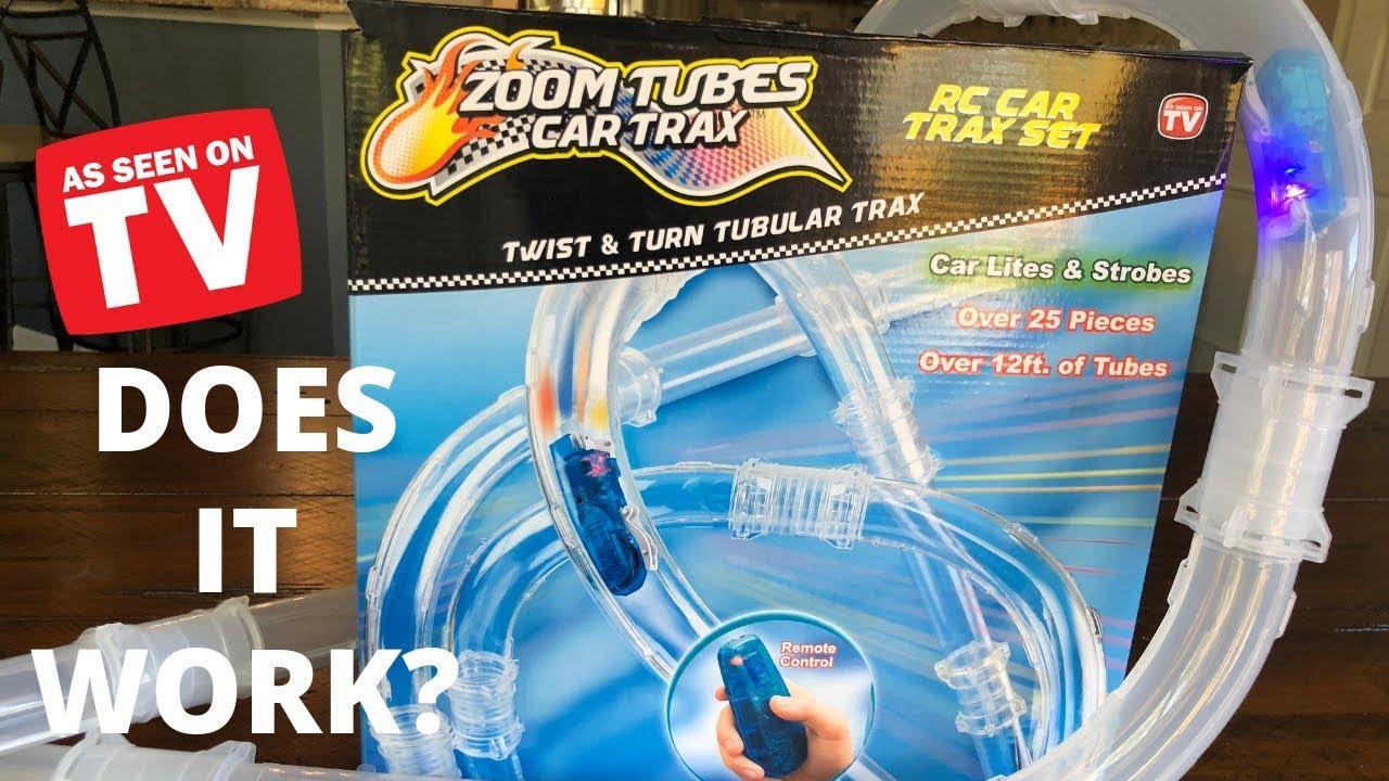 Zoom Tubes RC Car Trax Ultimate Bundle 25-pc Main Kit Blue Car And Expansion Kit