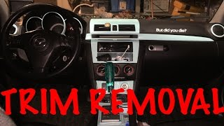 How To Remove Mazda3 Interior Trim