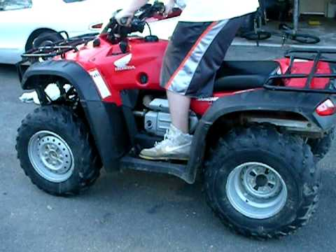 2004 rancher 400 4x4 walkaround and ride  YouTube