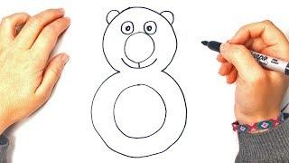 Como dibujar el numero 8 paso a paso | Dibujando los Numeros