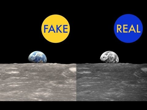 Earth's real photo from the moon-Real or fake?