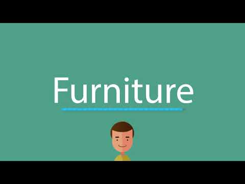 How to say Furniture