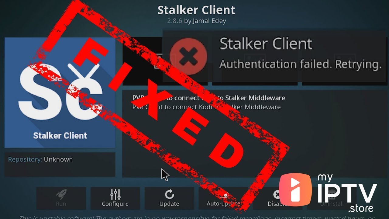 Kodi Stalker Client Authentication Failed Error Fixed in VooDoo, Express  and other IPTVs