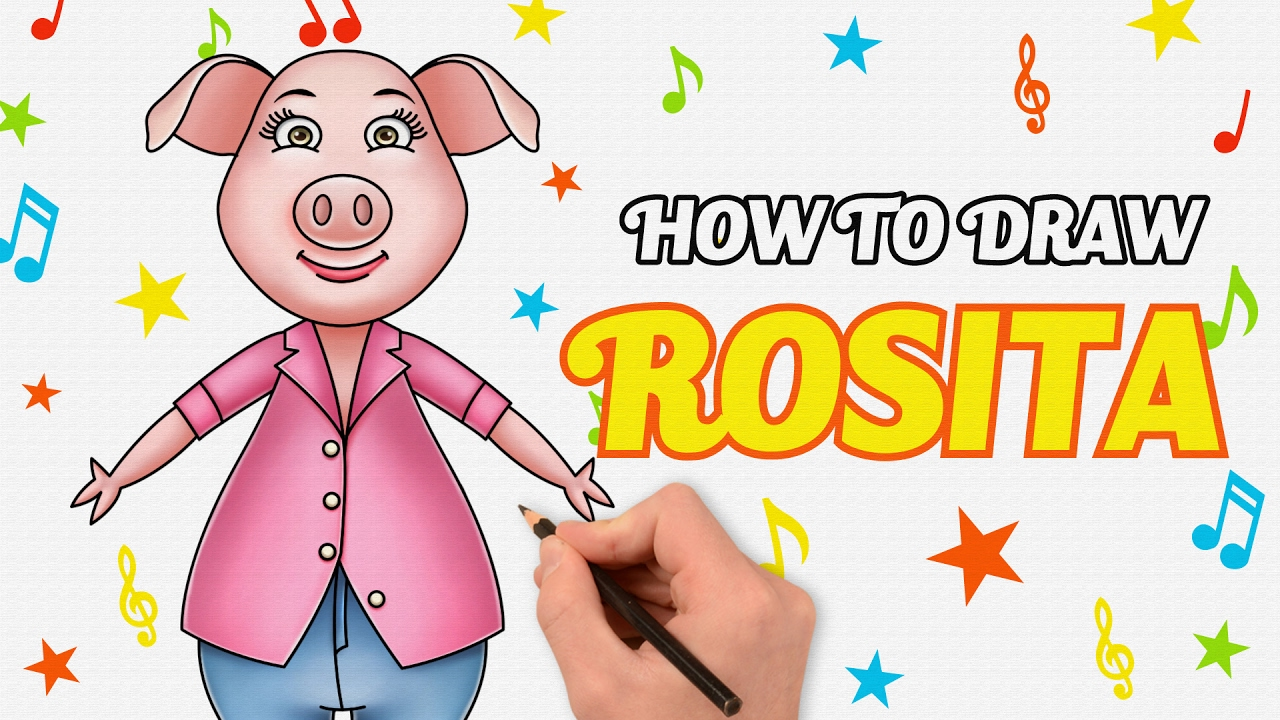 Learn How To Draw Rosita From Sing Movie Step By Step Guide In Naisha S Voice
