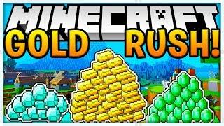 THE RICHEST PLAYER IN MINECRAFT - *BRAND NEW UPDATE* GOLD RUSH MINIGAME - Modded Minecraft Minigame