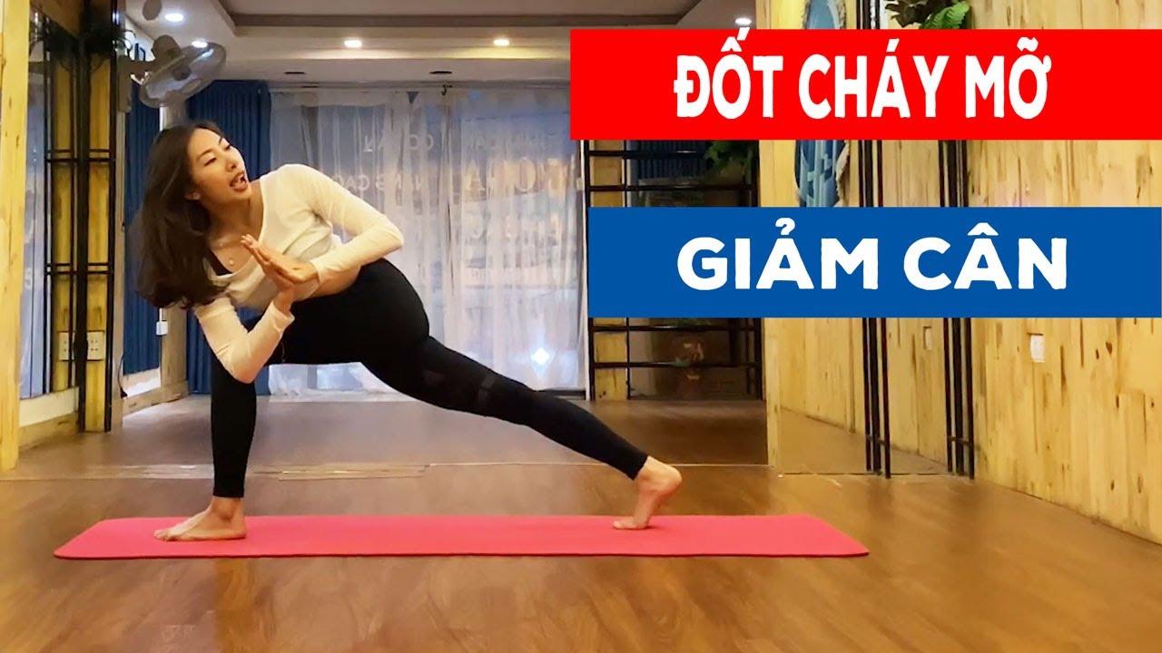GIẢM CÂN Cùng Bài Tập Đốt Cháy Mỡ Thừa Không Cần Ăn Kiêng || Yoga Luna Thái