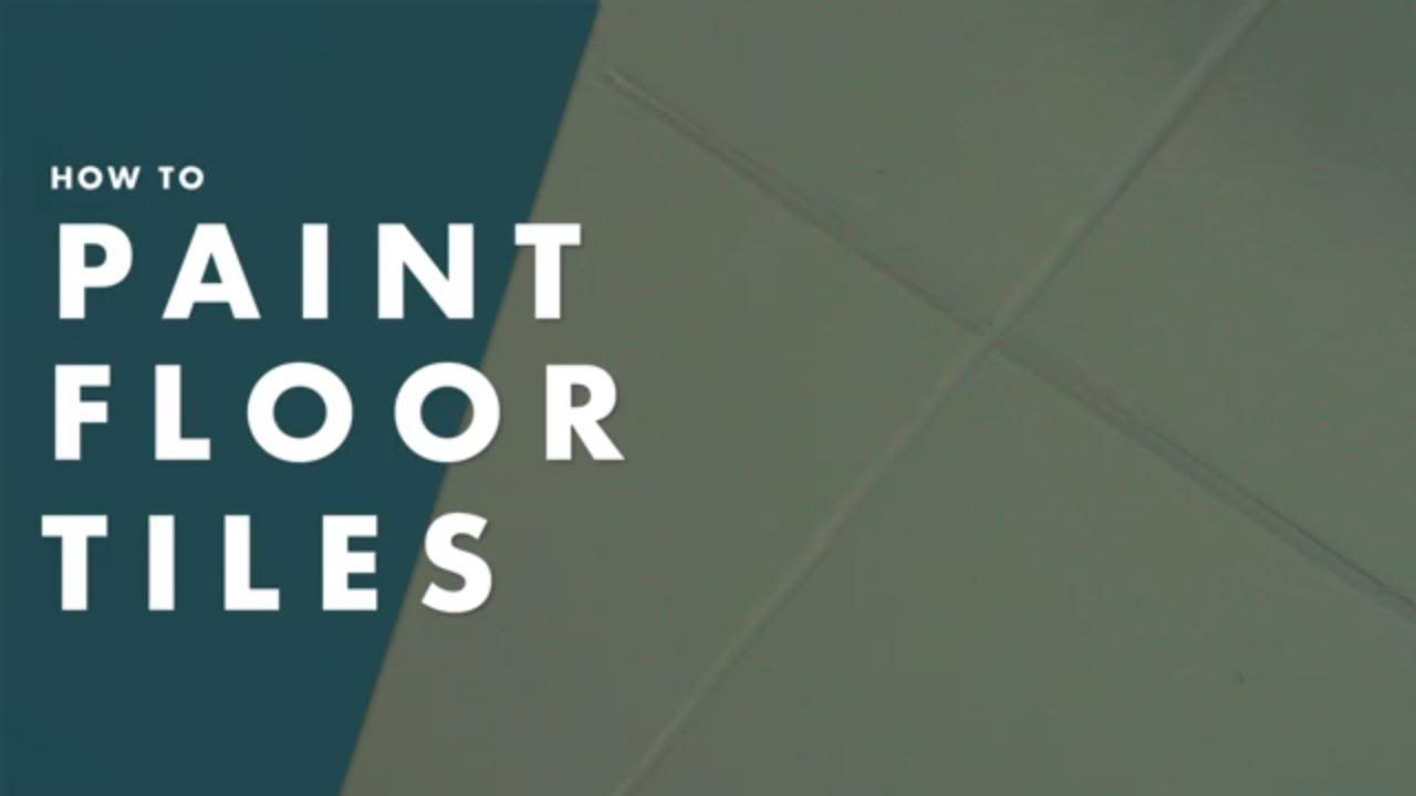 how to paint floor tiles