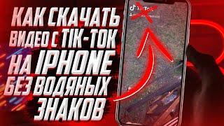 Как скачать видео с TIK TOK на IPhone без водяного знака? БЕЗ ПРОГРАММ