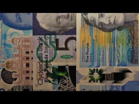 #17 #Банкноты Шотландии 5 и 20 фунтов / #Banknotes Of #Scotland 5 & 20 Pounds #обзор #ультрафиолет