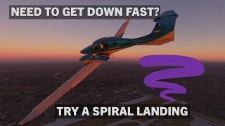 Spiral Landings in the Diamond DA62 | Flight Simulator 2020 Tutorial