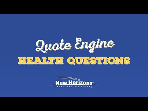 New Horizons Quote Engine - Health Question Filters