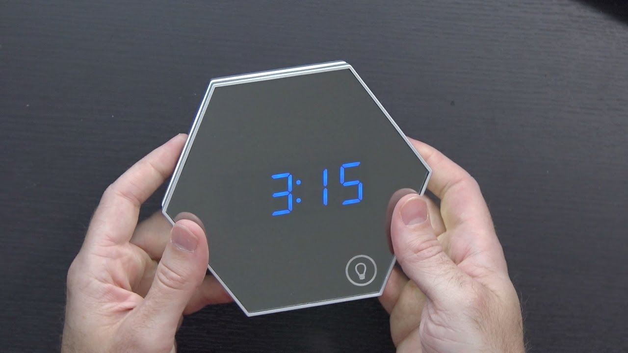 Mirror Alarm Clock And Led Nightlight In One From Accmor