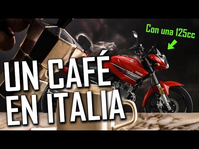 Un Café en ITALIA - Europa en MOTO de 125cc