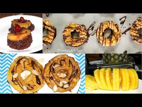 Quick Pineapple or Apple Rings Cookies, Cakes & Pancakes Video Recipe | Bhavna