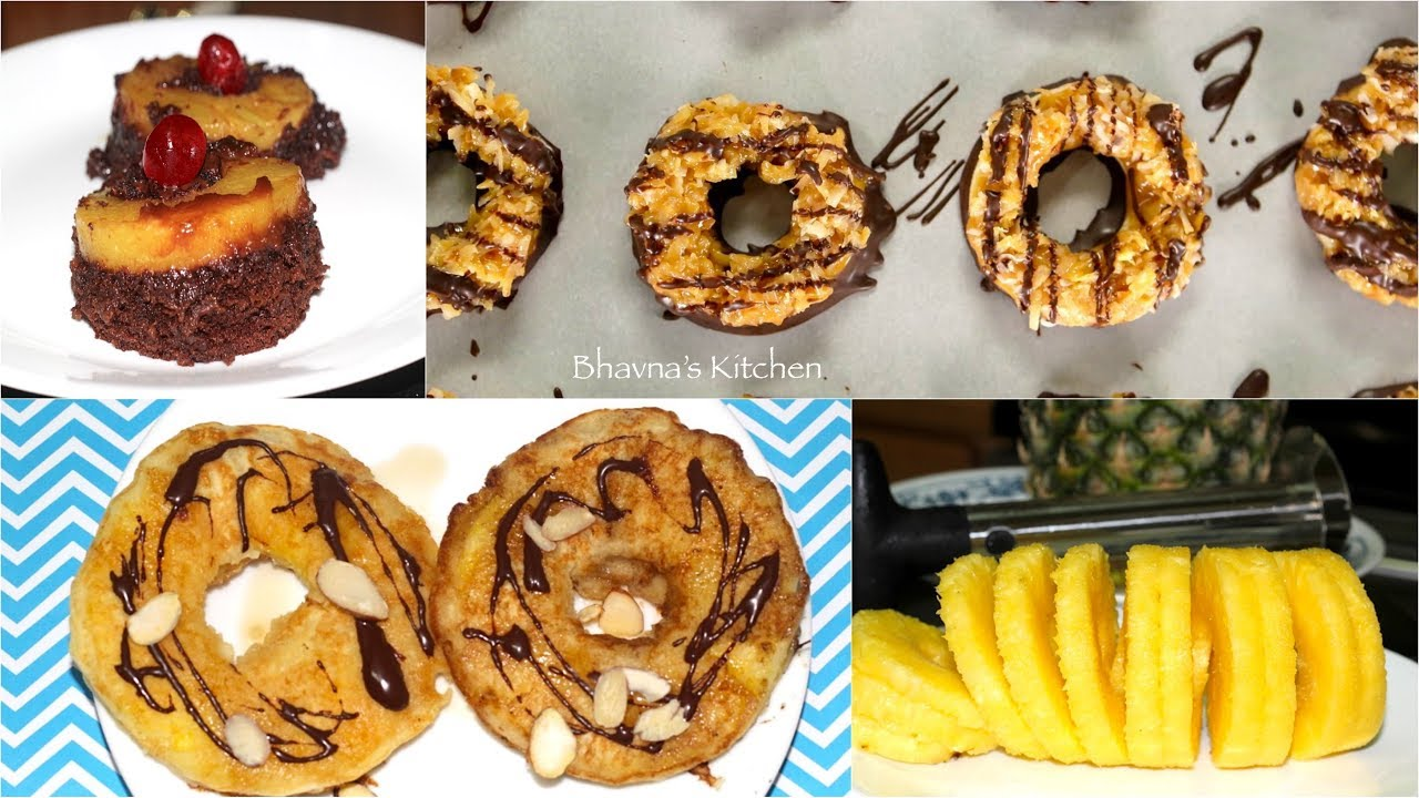 Quick Pineapple or Apple Rings Cookies, Cakes & Pancakes Video Recipe | Bhavna's Kitchen
