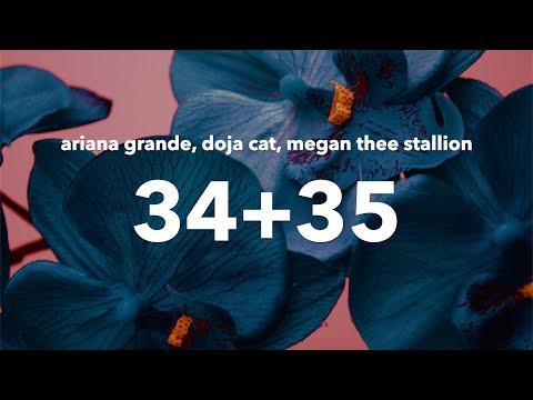 Ariana Grande - 34+35 (Remix) (Lyrics) feat. Megan Thee Stallion & Doja Cat