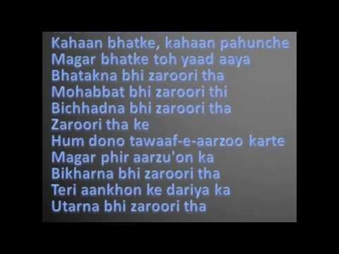 Rahat Fateh Ali Khan-Zaroori Tha Lyrics - YouTube