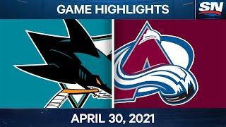 NHL Game Highlights   Sharks vs. Avalanche - Apr. 30, 2021
