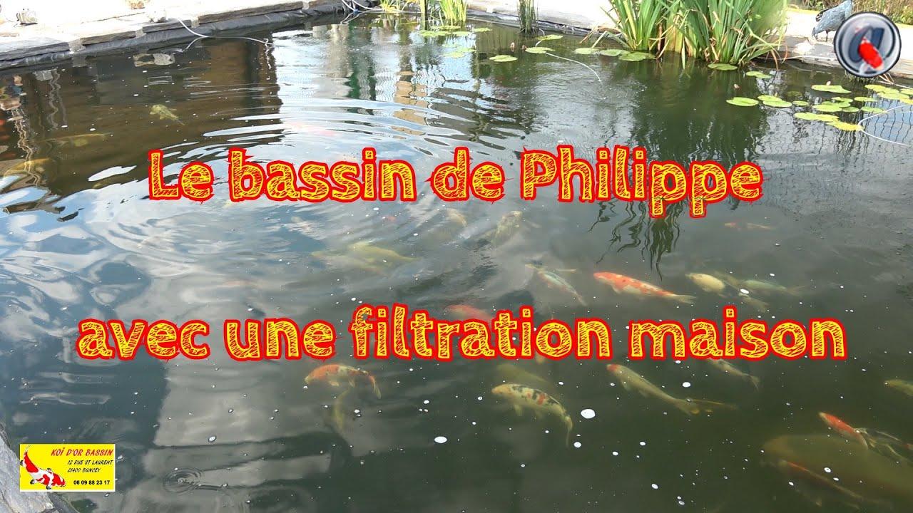 Le Bassin De Philippe Avec Une Filtration Maison Youtube
