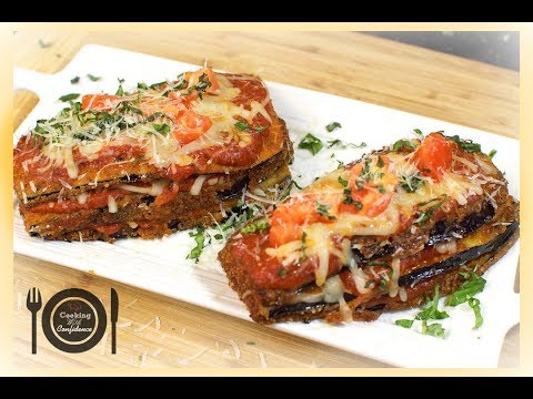 How to make Italian Vegetarian Eggplant Parmesan! ||Cooking With Confidence