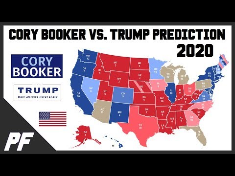 cory booker  donald trump  map prediction  electoral map projection youtube