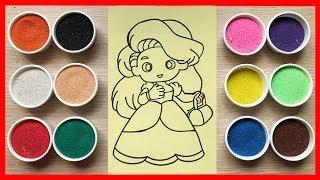 TÔ MÀU TRANH CÁT công chúa búp bê tóc dài - Colored S…
