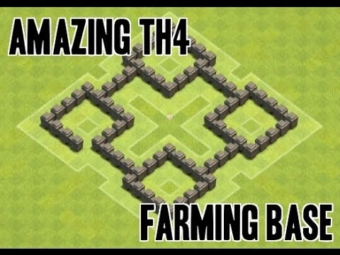 Town Hall 4 Wall Level 3 Best Defense And Farming Base With Attack Reply(CoC TH4) Cool #101