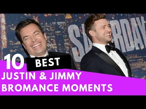Top 10 Justin Timberlake & Jimmy Fallon Bromance Moments! | Hollywire