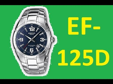 442c2a698c91 Review Casio Edifice EF-125D-2AVEF - YouTube