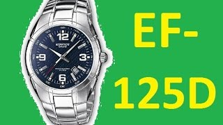 Review Casio Edifice EF-125D-2AVEF | Official World Watches(Review Casio Edifice EF-125D-2AVEF | Official World Watches Review and setting watch Casio Edifice EF-125D-2AVEF. In this video we consider about model ..., 2015-11-07T14:05:17.000Z)