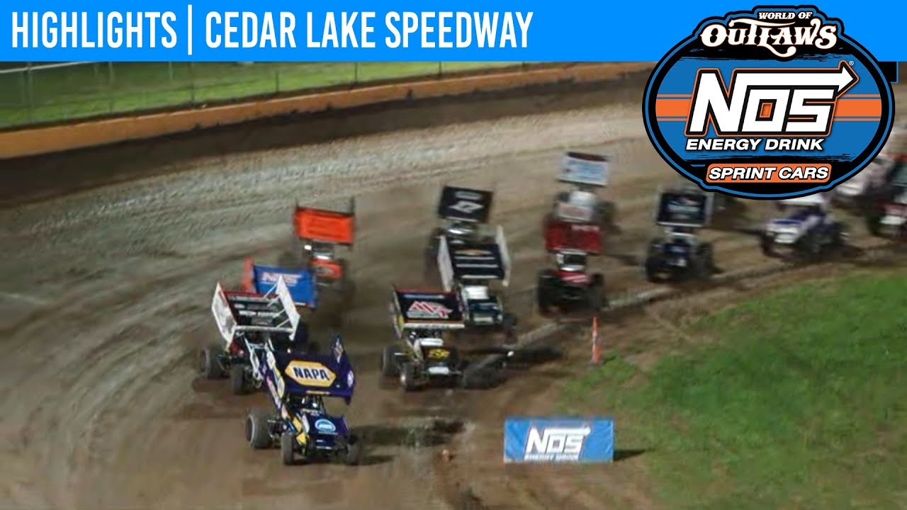 World of Outlaws NOS Energy Drink Sprint Cars Cedar Lake Speedway, July 6th, 2019 | HIGHLIGHTS