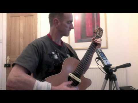 """Cafe Society"" original fingerstyle tune for open C guitar, cgcgce"