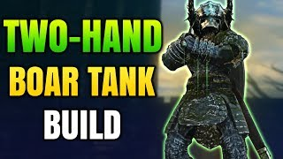 Dark Souls Remastered  - Two-hand Boar Tank (PvP/PvE) - OP Level 60 Invasion Tank Build