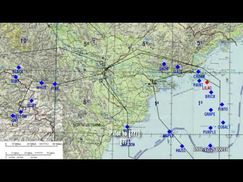 B-52 raid on Hanoi with combat livemap - 12/26/1972