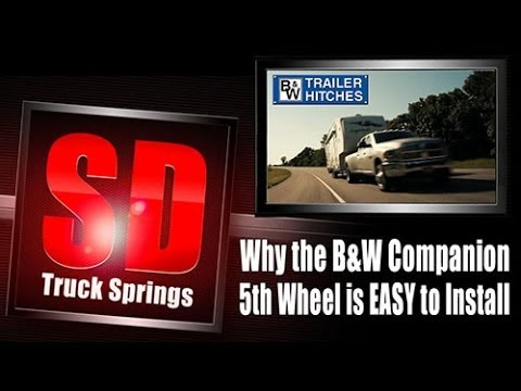 Bw Companion Fifth Wheel Hitch Is Easy To Install Tutorial And