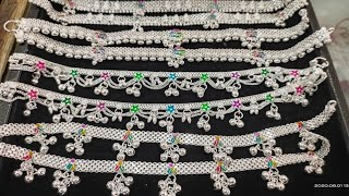 Silver bridal Anklet Latest designs Silver Payal Collections with price