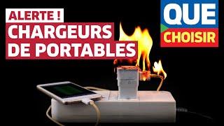 Chargeurs de smartphones : attention danger !