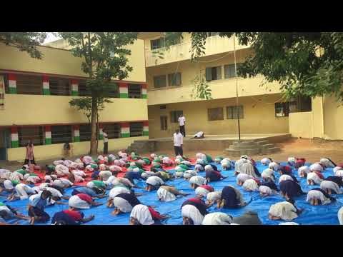 Yoga Session at Government Primary School, Agara Village, Bangalore