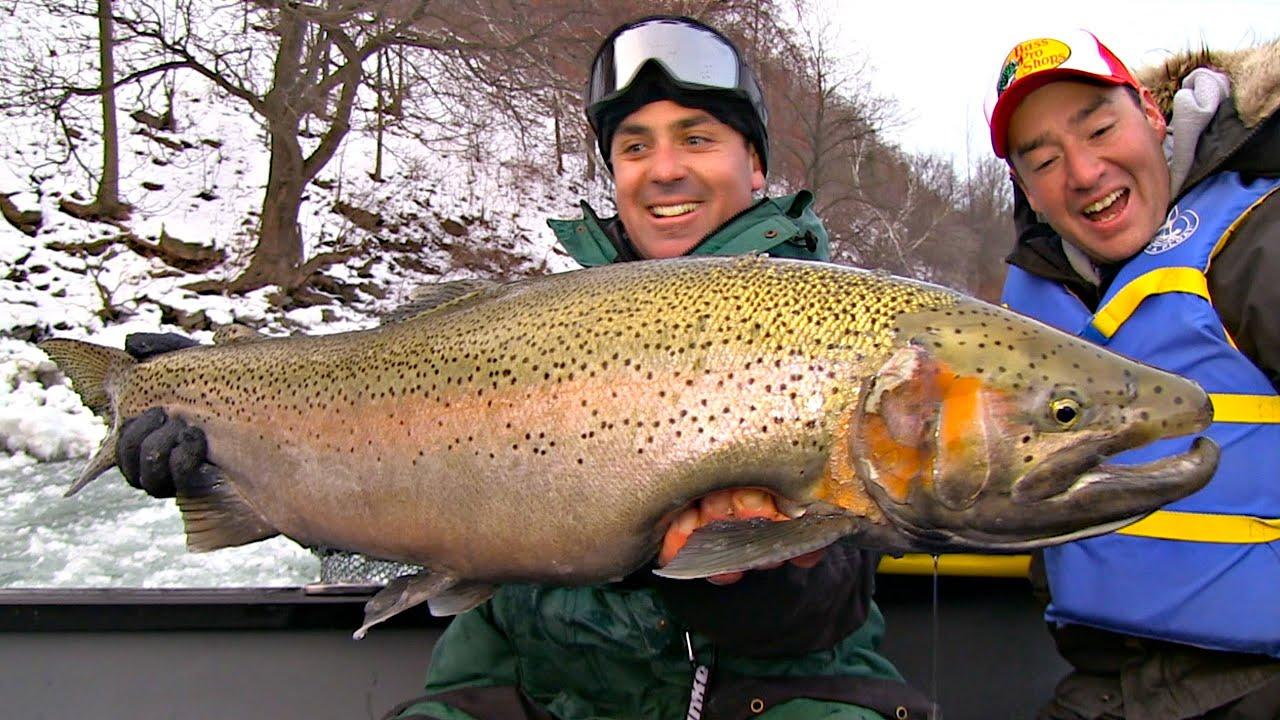 Niagara steelhead trout 101 uncut angling march 12 for Lower niagara river fishing report